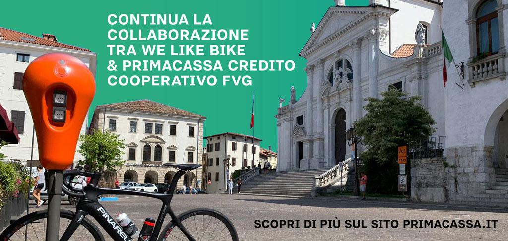 Collaborazione tra We Like Bike e PrimaCassa Credito Cooperativo FVG