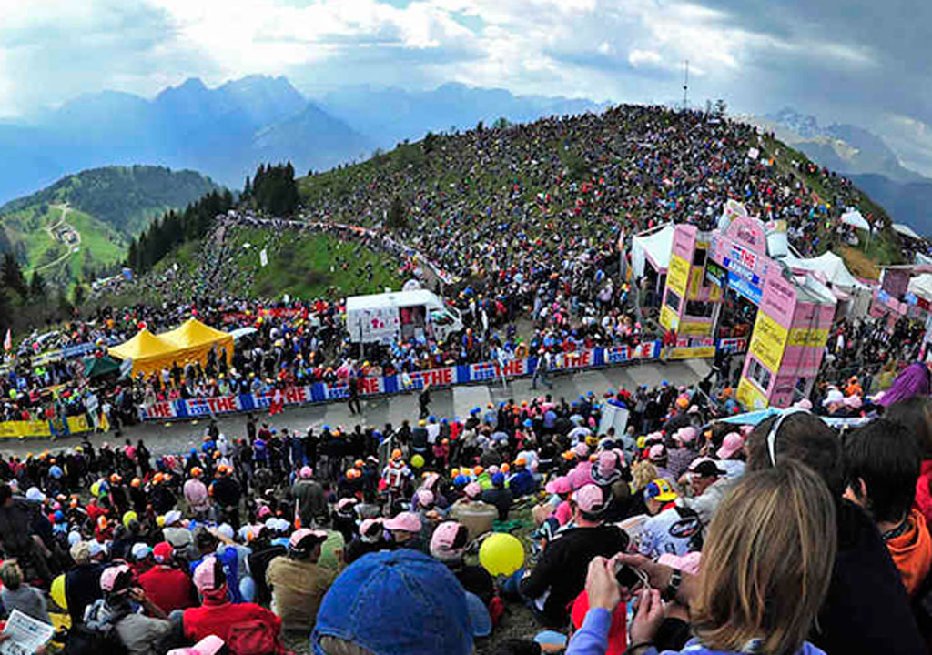The most famous climbs of the Giro d'Italia
