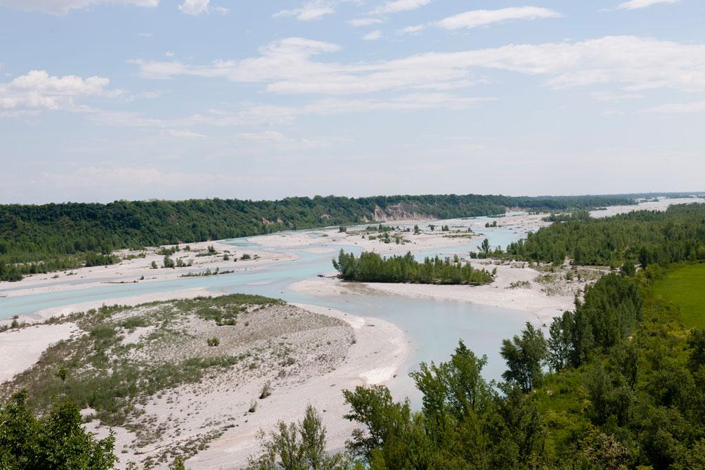 Slide Tagliamento river